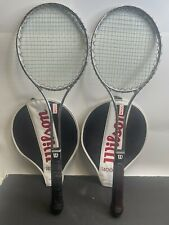New listing 2 Vintage Wilson T4000 Steel racquet w/ Cover Made in USA, Very Good Condition