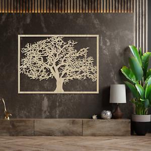 037 Amazing Framed Tree Panel Hanging Art Decor Wooden MDF Ash Oak