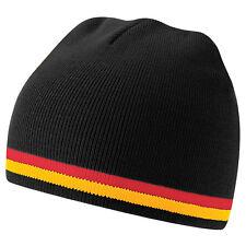 Bonnet sport marque Beechfield nation euro Foot ALLEMAGNE Noir Rouge Jaune