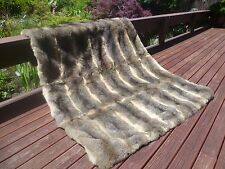 New Zealand Possum Natural Gray Fur King Single Size Bedspread / Throw