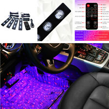 4IN1 Car LED Foot Ambience Lamp Star Atmosphere Remote Control Voice Music Light