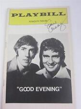 Playbill Orig Broadway Good Evening Moore Cook, Lucie Arnaz Signed COA Lucille