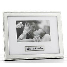 Shudehill  Bead Paque Just Married Photo Frame (Landscape)