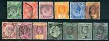 MALAYA STRAITS SETTLEMENTS 1912-13 YT 138-147A, 148, 14