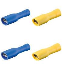 40 Flachsteckhülsen blau/gelb, 6,3 voll isoliert f.Kfz