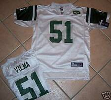 NWT NEW YORK JETS JERSEY SHIRT VILMA YOUTH  L 14 WHITE