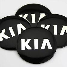 "4x 56mm 2.2"" Auto Car Wheel Center Hub Cap Emblems Sticker Badge Decal for Black"