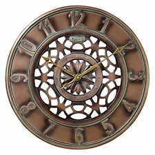 Bulova Gardner bronce reloj Metálico de pared C4853