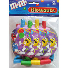 M&M's Vintage BLOWOUTS (8) ~ Birthday Party Supplies Favors Candy Mars Purple