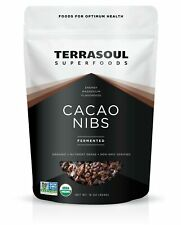 Terrasoul Superfoods Raw Organic Criollo Cacao Nibs, 1 Pound Cacao Nibs (Raw)