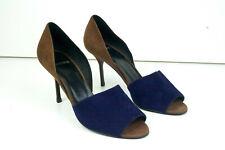 PIERRE HARDY Suede Peep Toe Sandals Heels Colour Block Size 5.5 6