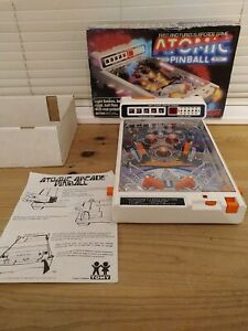 Atomic Pinball Game Tomy Vintage Arcade Retro Boxed complete with instructions