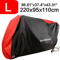 L Motorcycle Cover Waterproof 190T Wind Shelter Heavy Duty Dust Protective