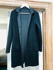 Loro Piana Cashmere Reversible Coat Jacket Herringbone Grey S/M Woman Size 44