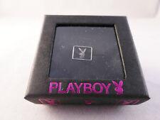 Playboy Mens Single Stud Earring Bunny Logo and Swarovski Crystal (Gift Boxed)