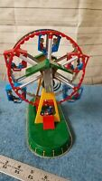 Tin Ferris Wheel with 2 Keys Vintage Repro Wind Up Toy Works Great