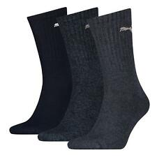 Puma Sports Socks Crew Mens/Womens Running (3 Pair Pack) UK Size 2.5 up to 14