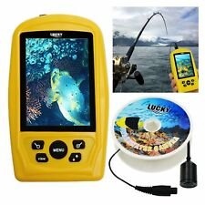"""3.5"""" Underwater Camera Fish Inspection Color Monitor 4 LED Lights 20m Cable IP68"""