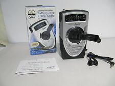 Innovage Outdoor AM FM Emergency Battery Crank Radio