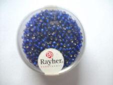Rayher Rocailles mit Silbereinzug 17 gramm 2 mm dunkelblau Bastelperlen