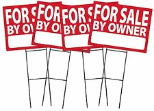 For Sale By Owner - RED - Sign Kit with Stands - 4 Pack (K-S122-K4PK)
