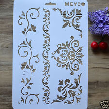 Drawing Stencil Template for Art Craft Album Stamping Painting Mold #Lace Flower