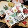 Flower Plants Vellum Self-adhesive Stickers Scrapbooking DIY Crafts Card Decor