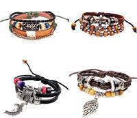 Damen Herren Charme Armband Bracelet Vintage Surferarmband Geschenk Urlaub WOW