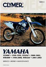 Clymer Yamaha YZ400F,YZ426F,WR400F,WR426F 1998-02 Motorcycle Repair Manual/Guide