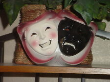 CLAY ART CERAMIC MASK...COMEDY & TRAGEDY TV LAMP...EXTREMELY RARE!!