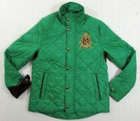 Women Ralph Lauren Equestrian Rider Jockey Club Crested Patch Quilted Jacket S