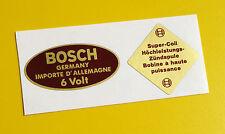 BOSCH Blue 6V Coil Sticker Decal set Vintage 1950's PORSCHE 356 911 BMW VW