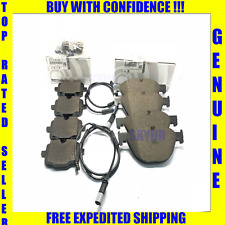 BMW Front & Rear Brake Pad Sets With Sensors 535 550 650 740 750 Genuine