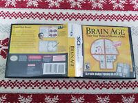 Brain Age - Authentic - Nintendo DS - Case / Box Only!