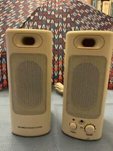 vintage computer speaker with adapter