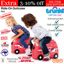 Trunki Kids Ride-On Suitcase For 3 years & Up Boris The Bus Children Luggage Red