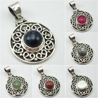 Variations Listing, 925 Sterling Silver SODALITE & Other GEMSTONE TRIBAL Pendant