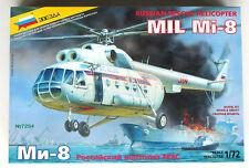 "Zvezda Russian Rescue Helicoper Mil Mi-8 Kit 1/72 (Hubschrauber) ""NEW"" 7254"