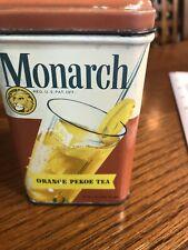 Monarch Orange Pekoe Tea Tin Can