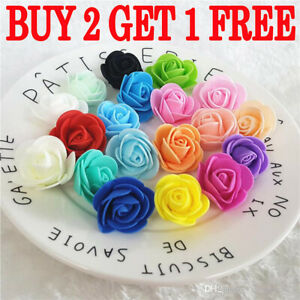 Mini Foam 3cm Roses- Wedding Craft Flower Party Decoration Favour- Many Colours