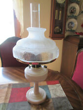 Aladdin Lincoln Drape Alacite glass Kerosene / Oil Lamp/ Loxon Chimney~ Shade