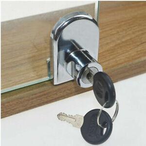 Heavy Duty Display Cabinet Showcase Lock Glass Door Lock with 2 keys