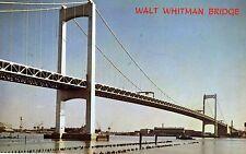 VINTAGE UNPOSTED COLOR POSTCARD OF THE WALT WHITMAN BRIDGE OVER DELAWARE RIVER