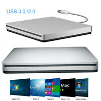 Externo USB 3.0 / 2.0 Slim DVD CD ROM Burner Drive Box Disco para PC Mac