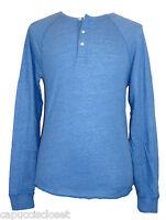 Lucky Brand Mens Shirt Henley Long Sleeve Raglan Cotton Knit Blue Sz S NEW NWT
