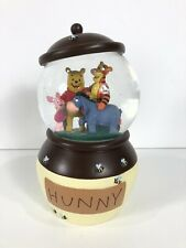 "Disney Store Winnie The Pooh Snowglobe ""Hunny"" Honey Jar Tigger Piglet Eeyore"