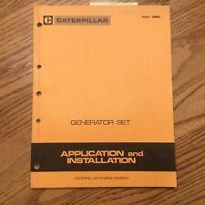 CAT Caterpillar GENERATOR GENSET APPLICATION INSTALLATION HANDBOOK MANUAL GUIDE