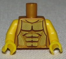 Lego New Pearl Gold Torso Armor Gold Plated Muscles Outline Flying Warrior