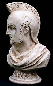 Leonidas King of Sparta. Greek Sculpture 3D Bust Statue 26 cm Made in Sydney