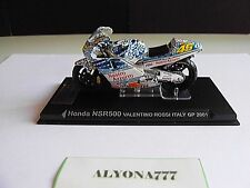 1/24 Ixo HONDA #46 VALENTINO ROSSI 2001 Mugello Bike Motorcycle 1:24 Altaya IXO